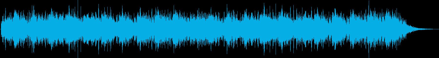 神秘的な雰囲気のヒーリング音楽の再生済みの波形