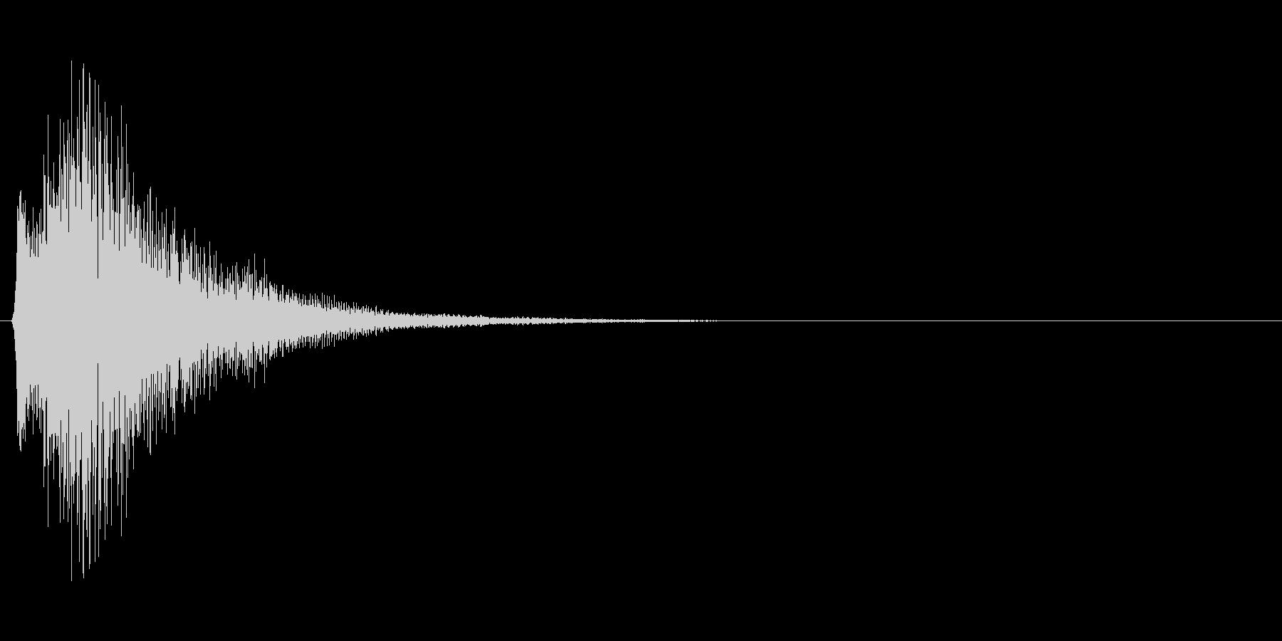 タッチすると光が広がるイメージの決定音2の未再生の波形