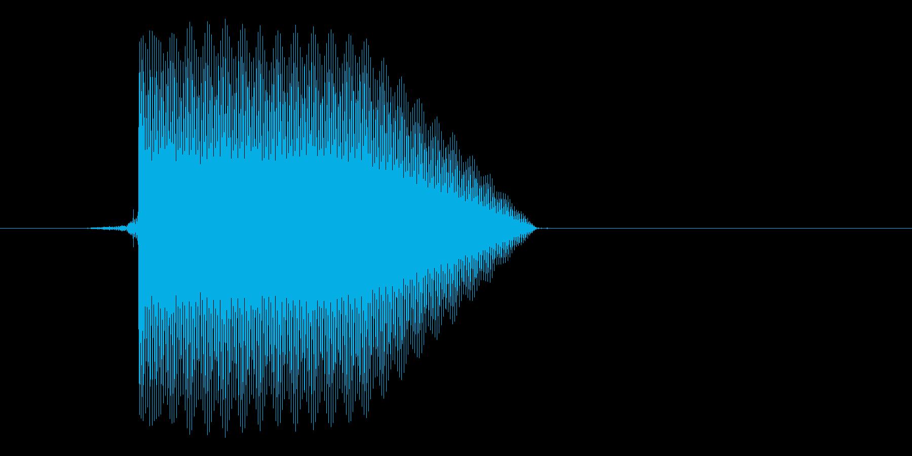ゲーム(ファミコン風)セレクト音_029の再生済みの波形