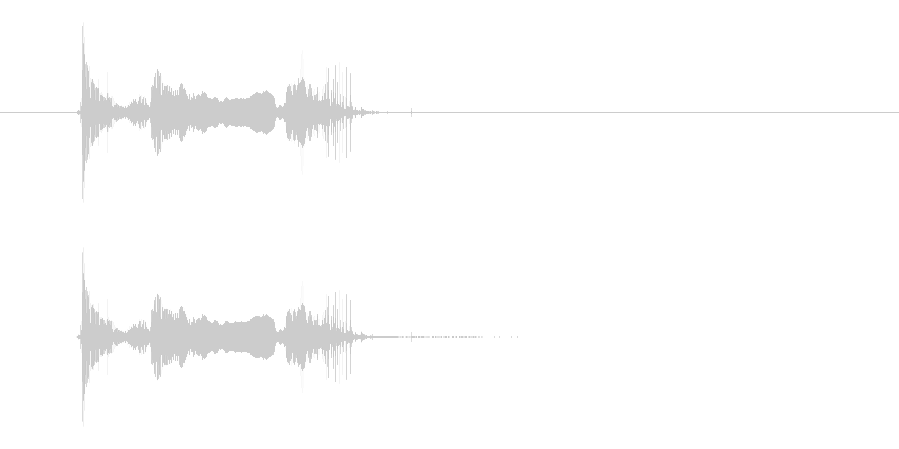 アソォーレの未再生の波形