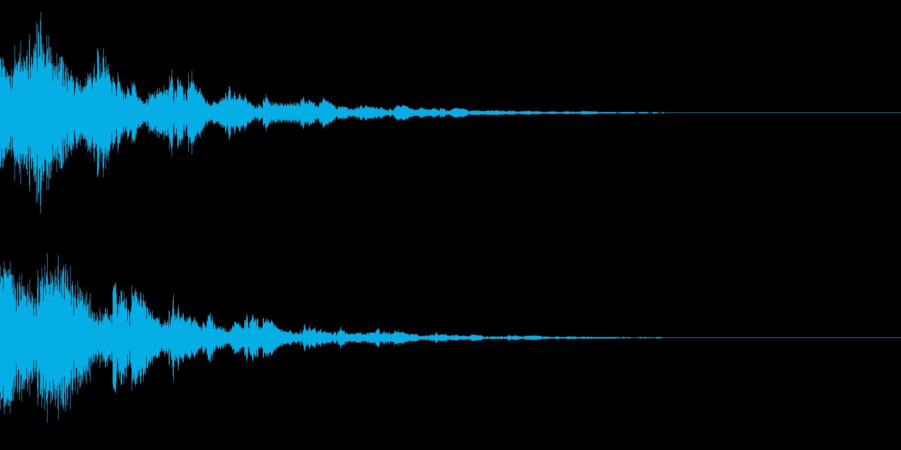 サウンドロゴ34(ベル系)の再生済みの波形