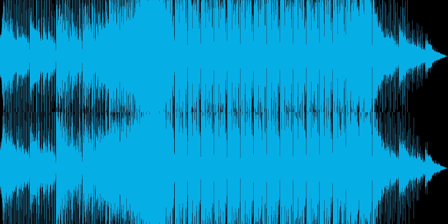 エレクトロポップな可愛いダンスBGMの再生済みの波形