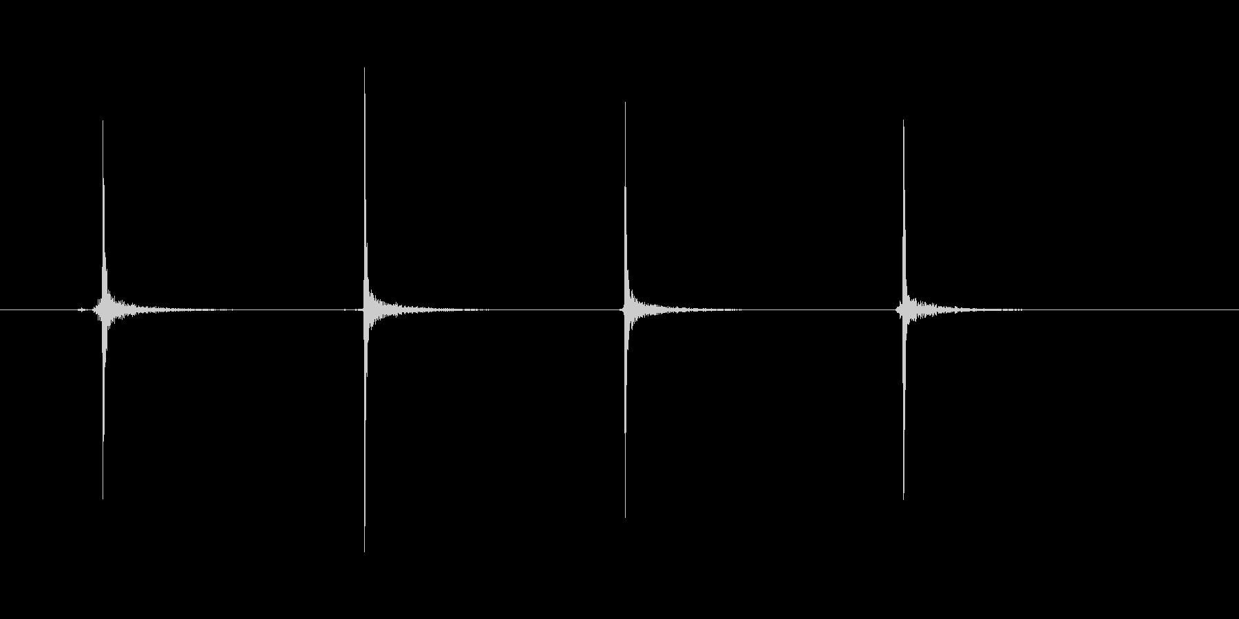 カッターの刃(ゆっくり)の未再生の波形