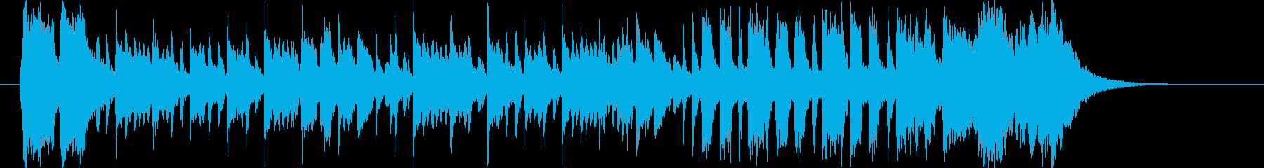 軽やかでリズミカルなピアノジングルの再生済みの波形