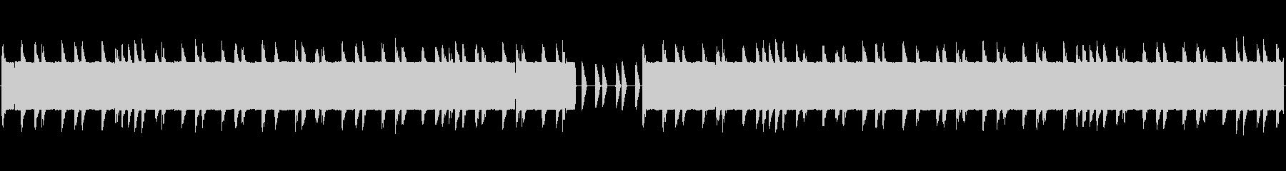 チップチューンの短いジャズループ1の未再生の波形