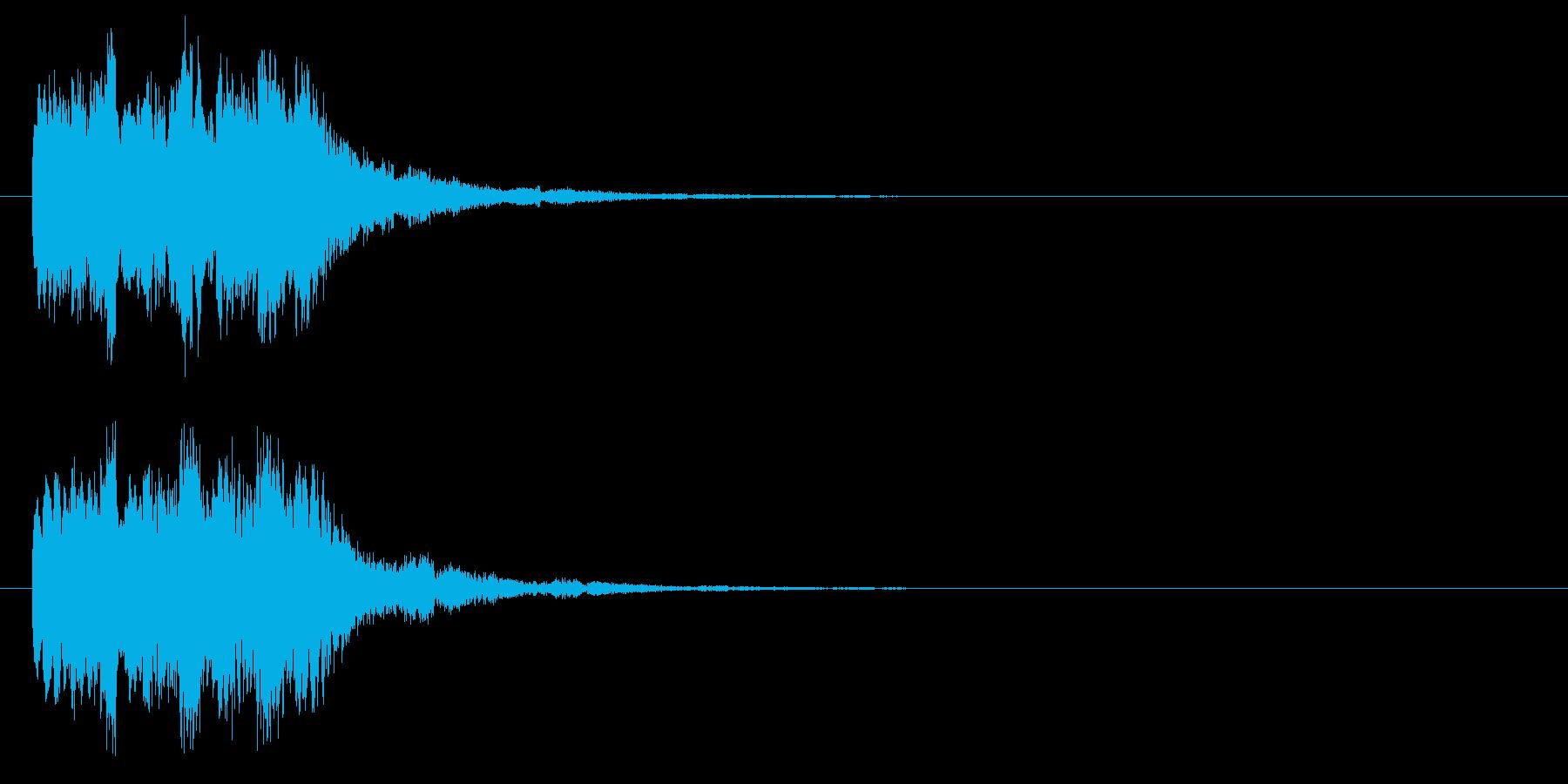 魔法効果の再生済みの波形