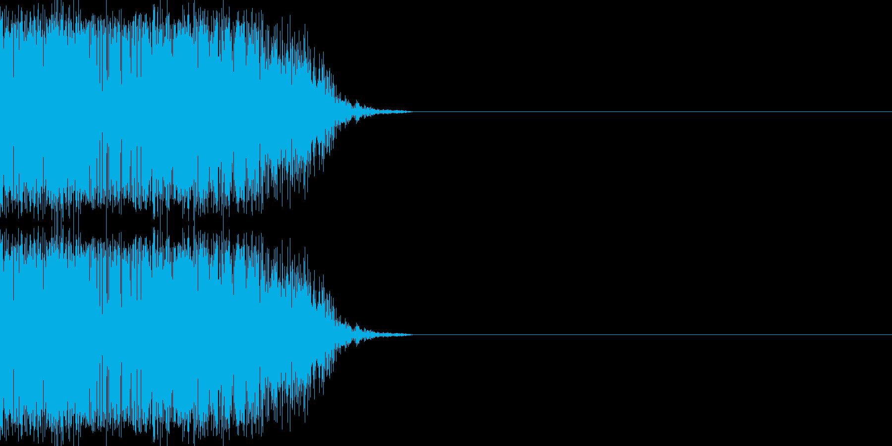 シュバッ(瞬間移動/ジャンプ/斬撃)の再生済みの波形
