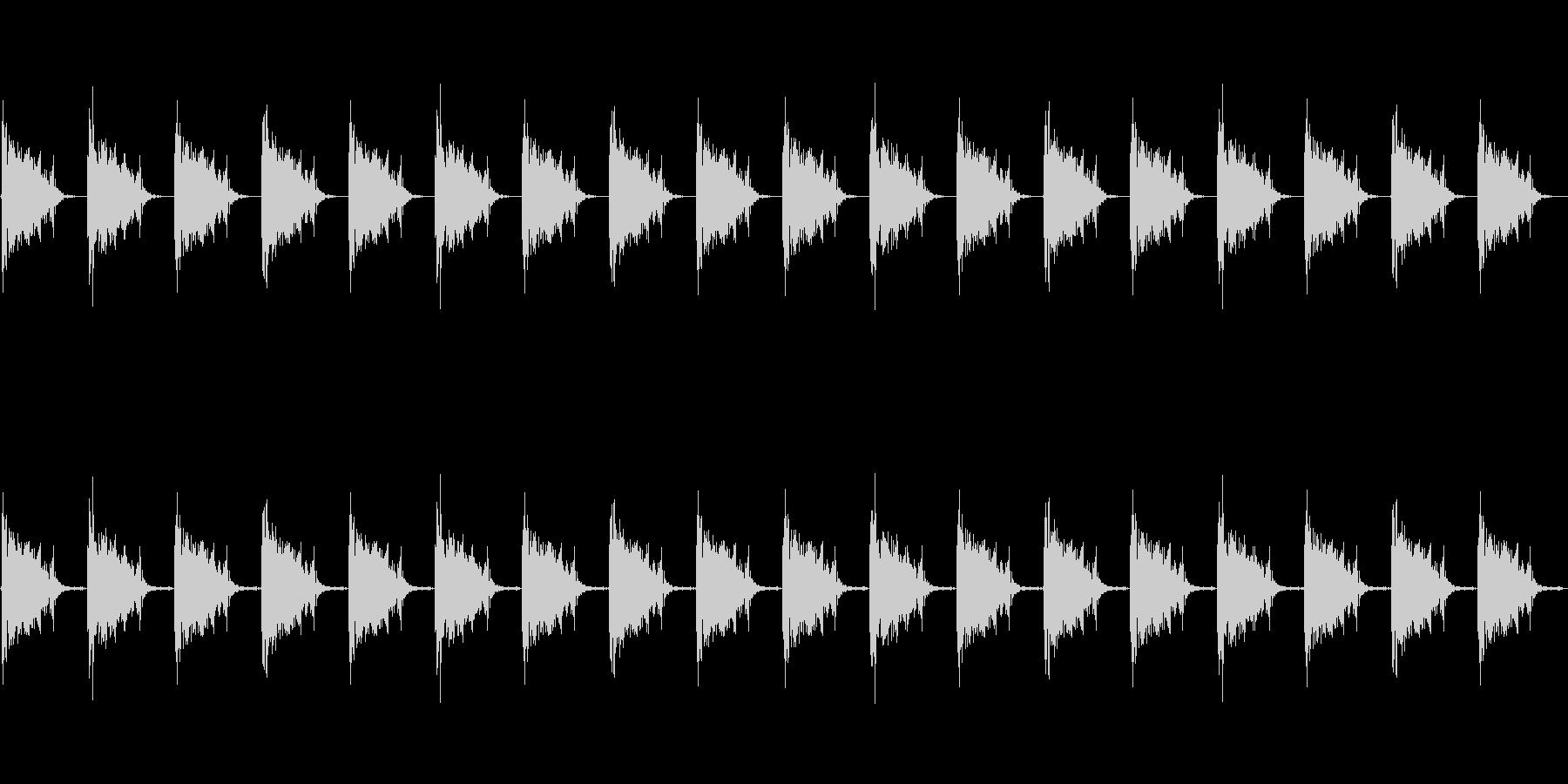 足音 ロボット系 ループも可の未再生の波形