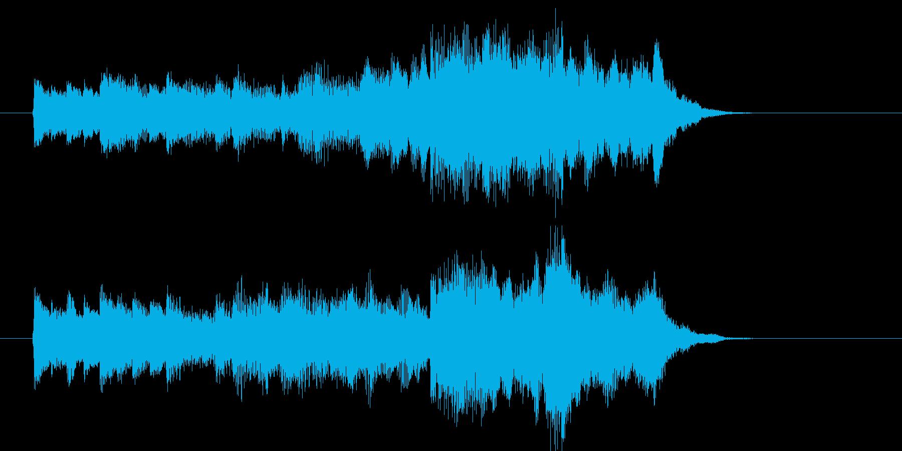 ピアノとストリングスが特徴のジングル曲の再生済みの波形