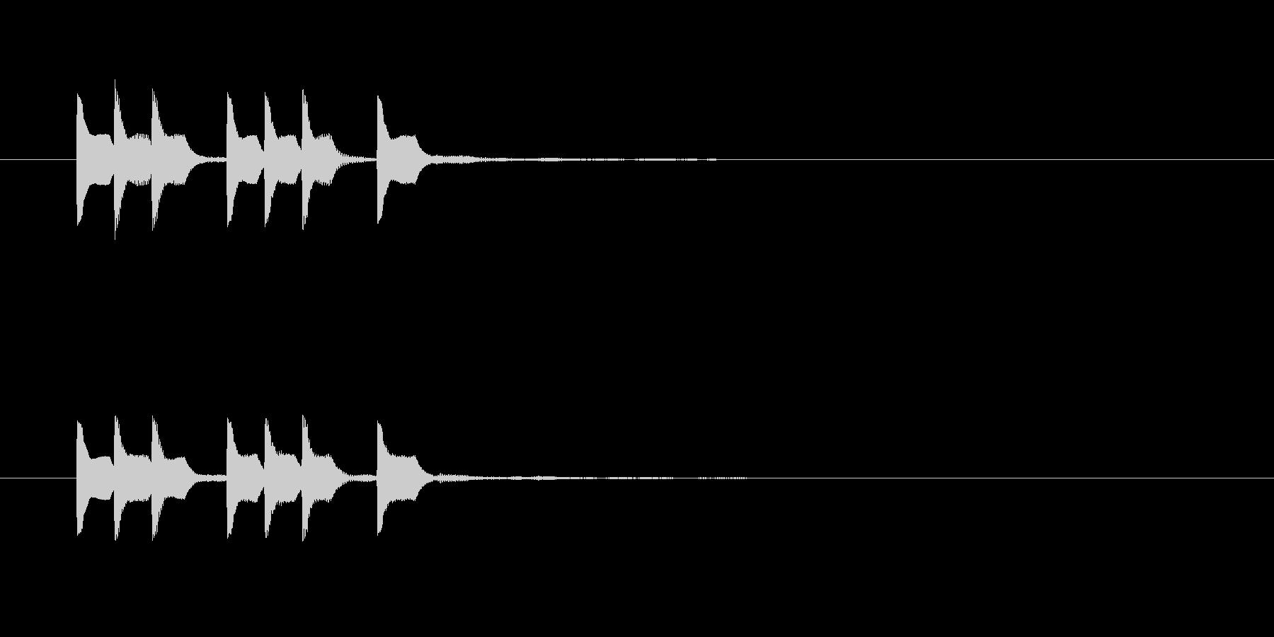 テレテッテレテッテの未再生の波形
