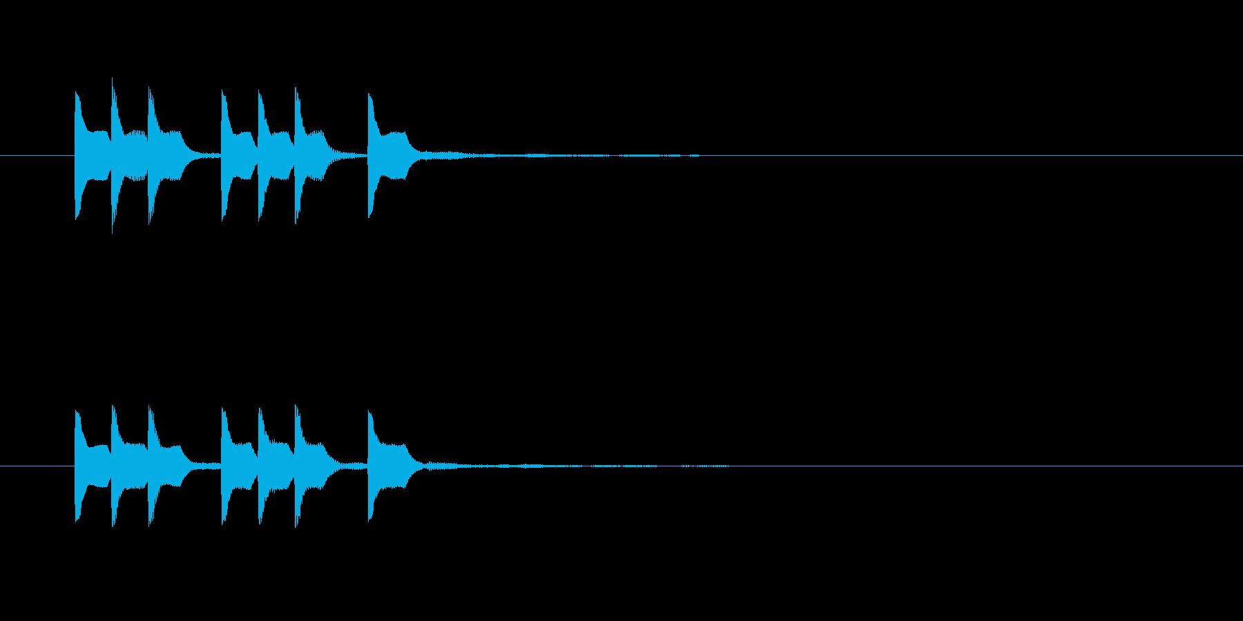 テレテッテレテッテの再生済みの波形