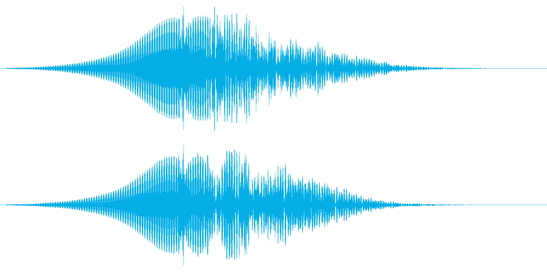 インパクトの再生済みの波形