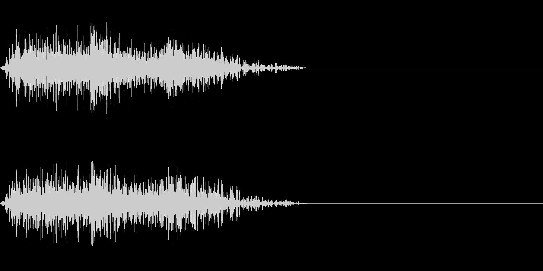 ビーム ワンショット9の未再生の波形
