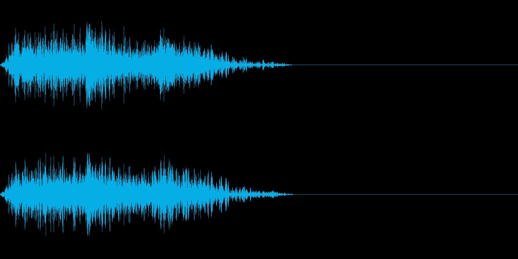 ビーム ワンショット9の再生済みの波形