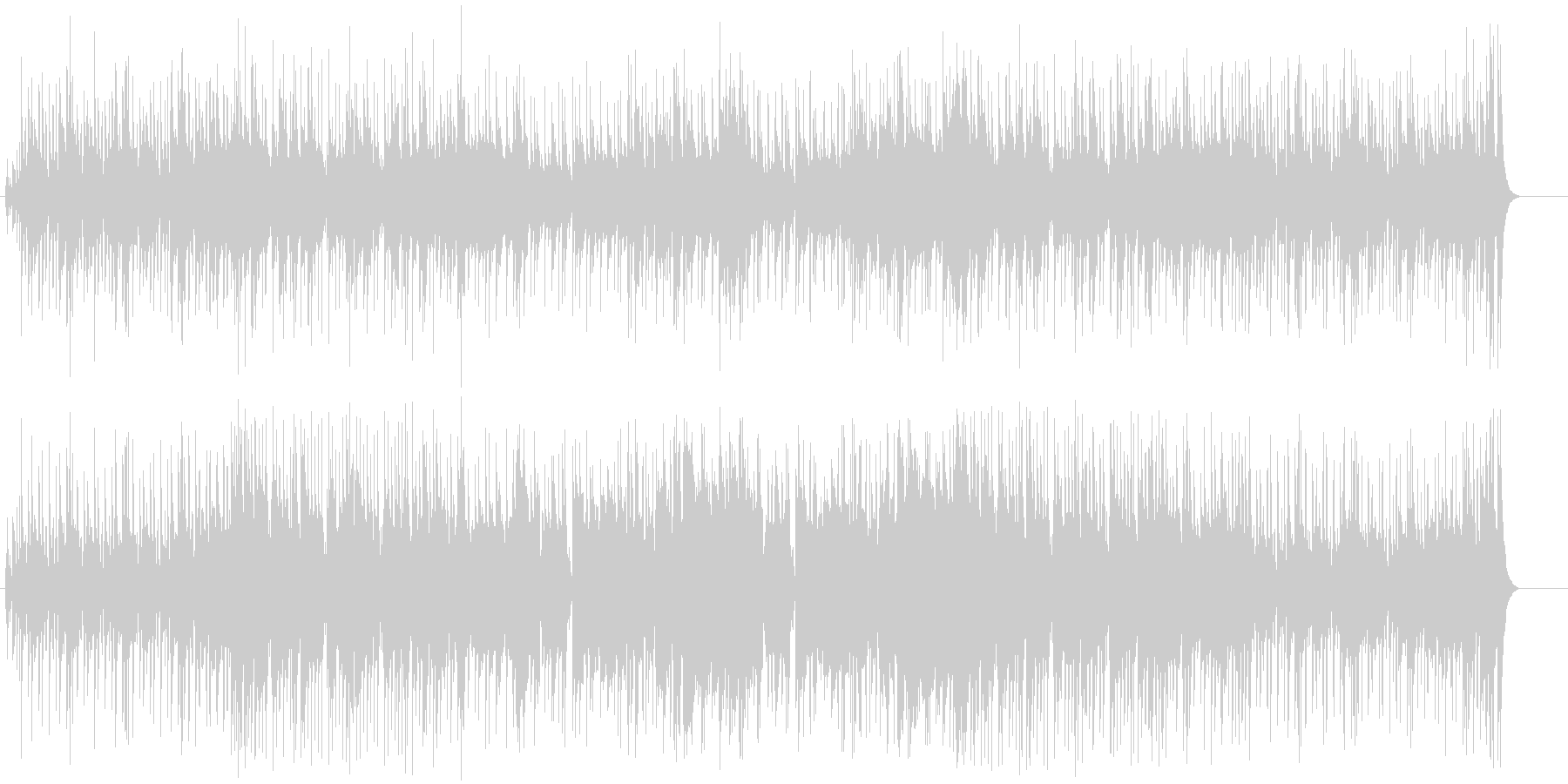 ブラックミュージックテイストのポップスの未再生の波形