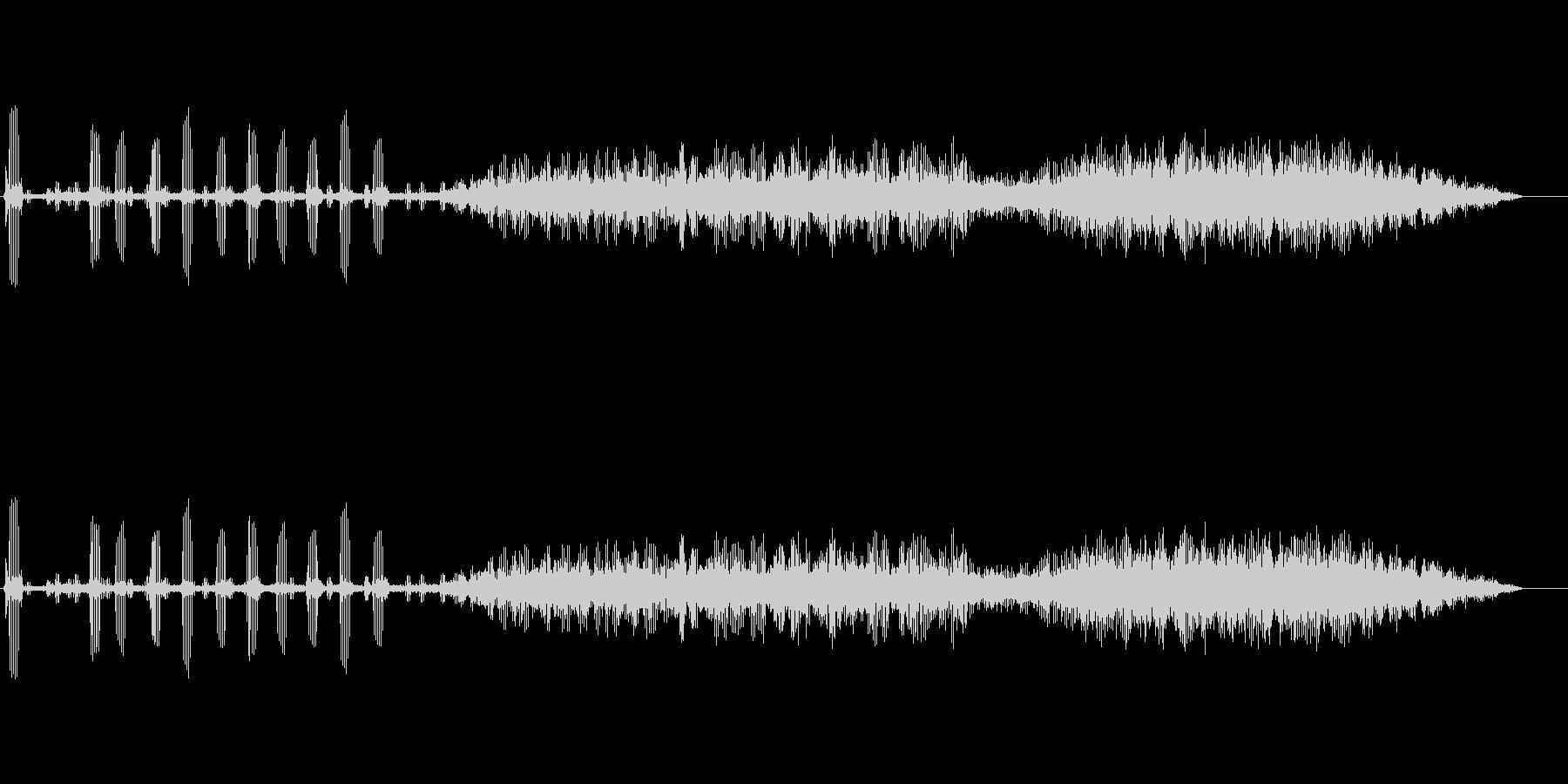 カエルの鳴き声の未再生の波形