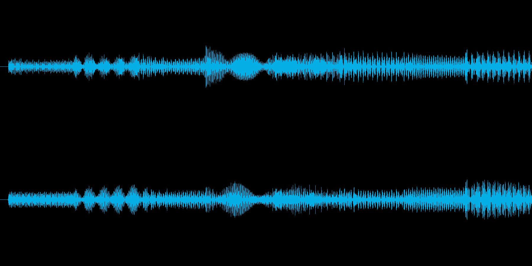ピポパポ音(ノイズ)の再生済みの波形