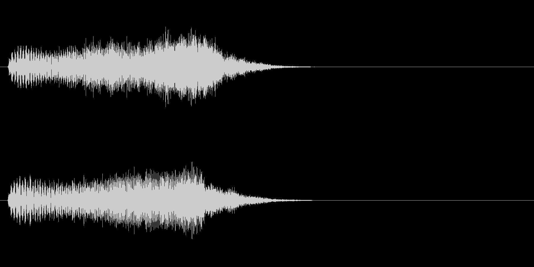 吸い込む音・画面のスワイプ音の未再生の波形