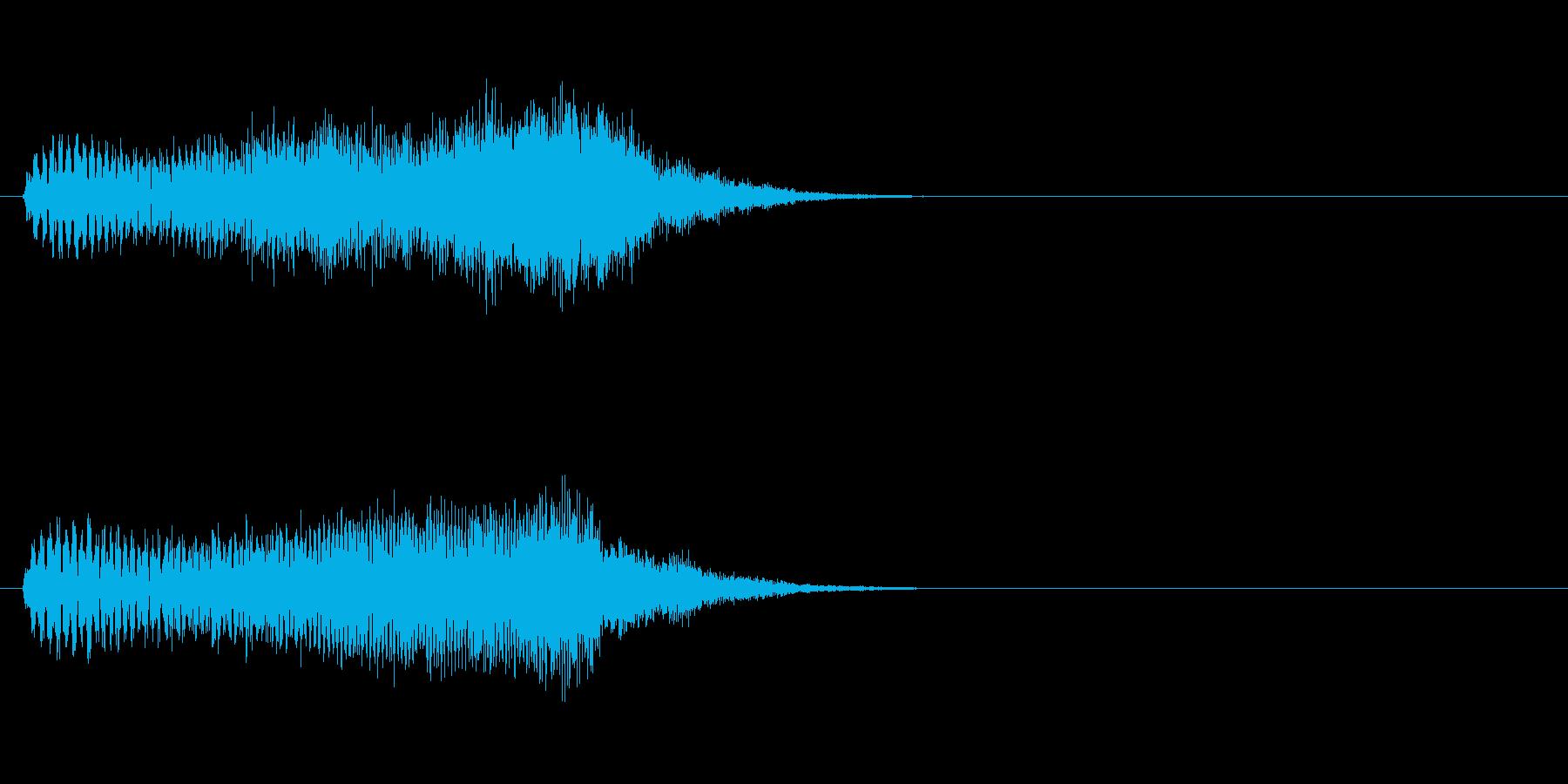 吸い込む音・画面のスワイプ音の再生済みの波形