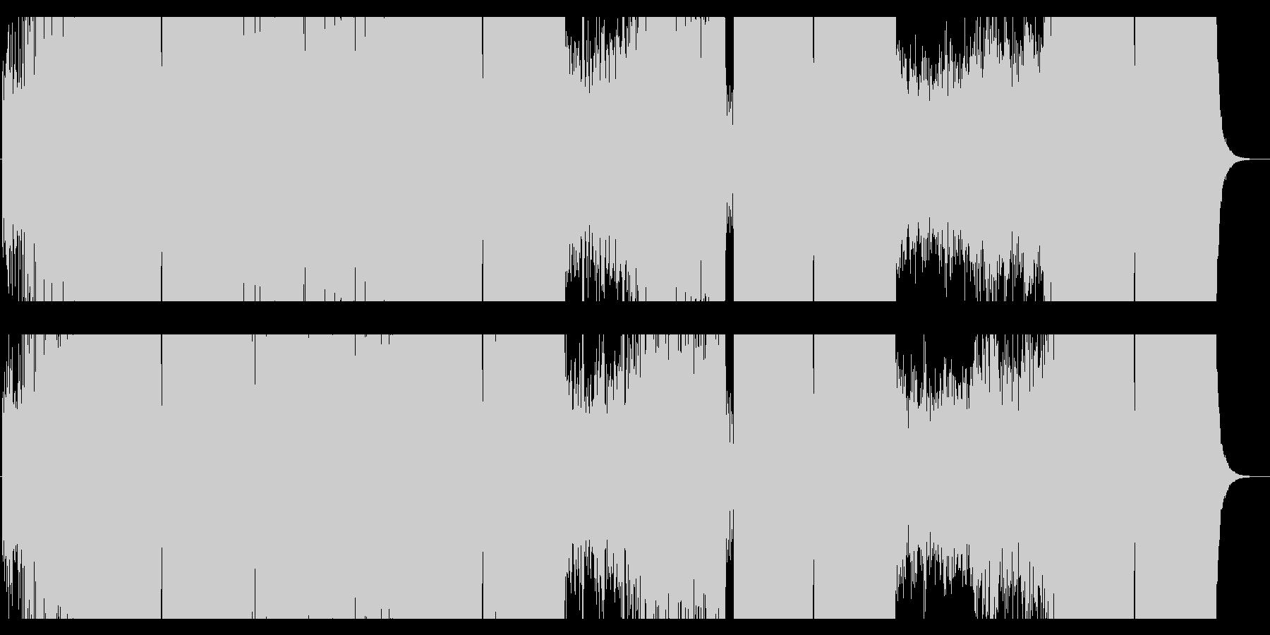 現代的で開放感のあるドラムンベースの未再生の波形