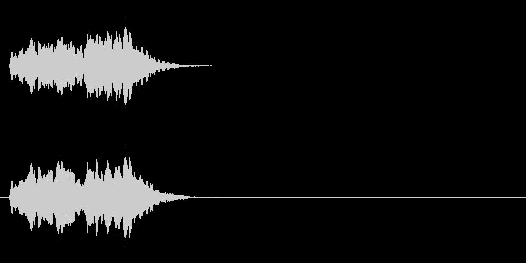 ジングル(お天気情報コーナー風)の未再生の波形