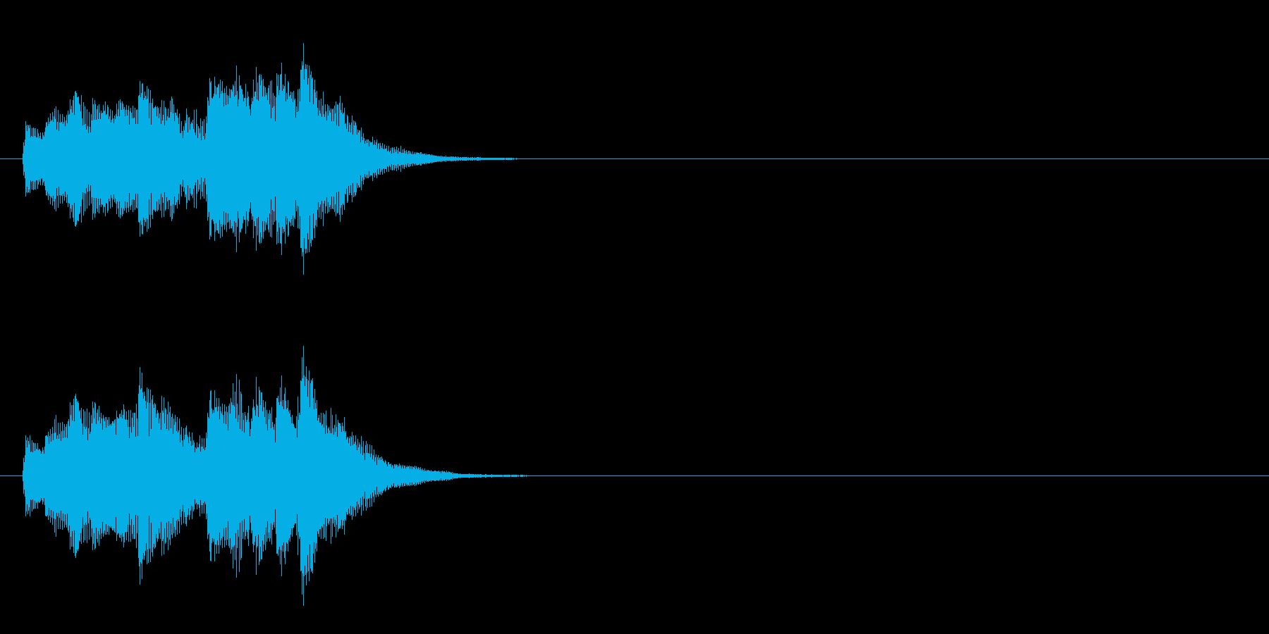 ジングル(お天気情報コーナー風)の再生済みの波形