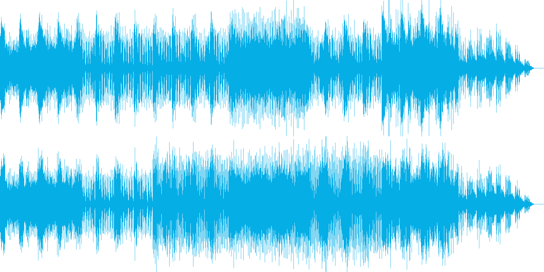 シンプルなオーガニックテクノの再生済みの波形