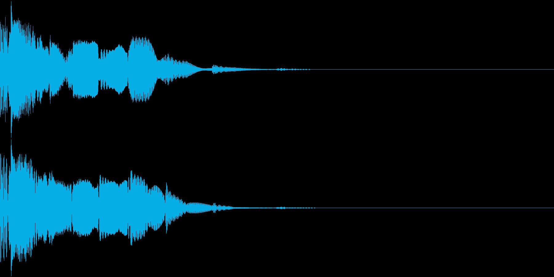 Invader 奇天烈なシューティング音の再生済みの波形