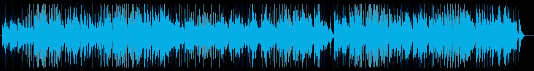 カントリー風ギターシンセサイザー曲の再生済みの波形