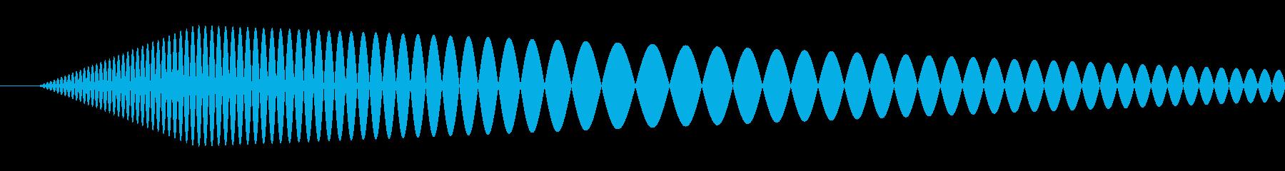 【コミカル】肉球・足音・スタンプの再生済みの波形