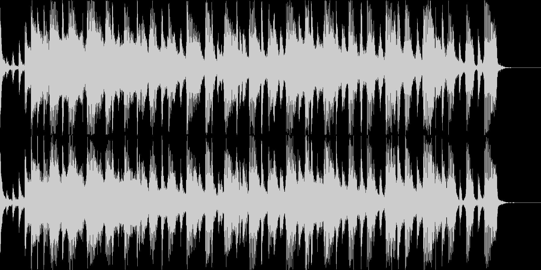 情熱なロックBGMの未再生の波形