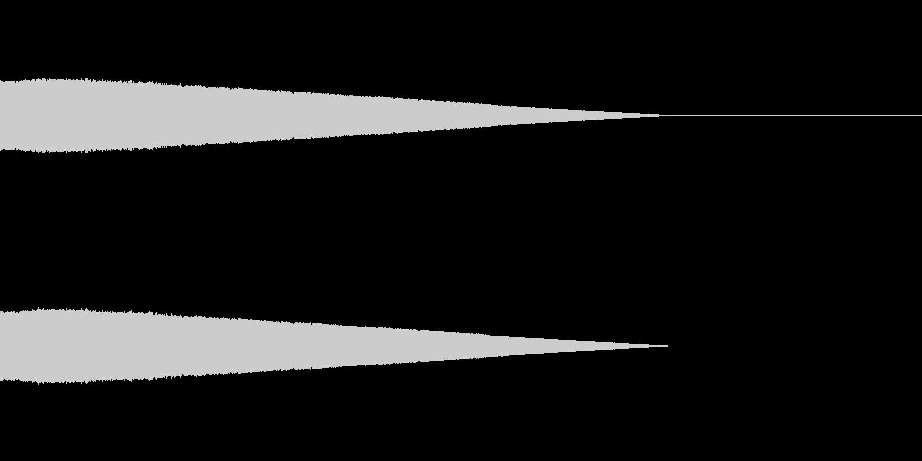 ピュー 下降 短めの未再生の波形