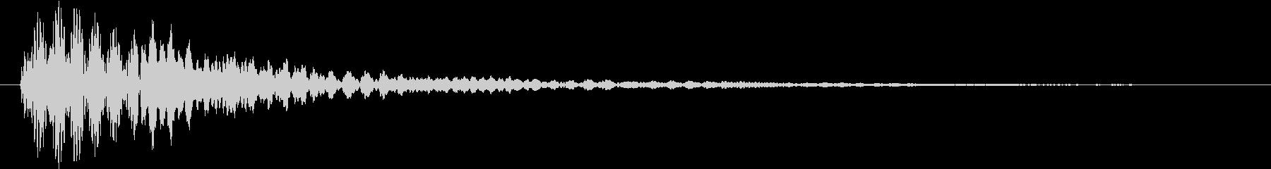 マリンバによるキャンセル音の未再生の波形