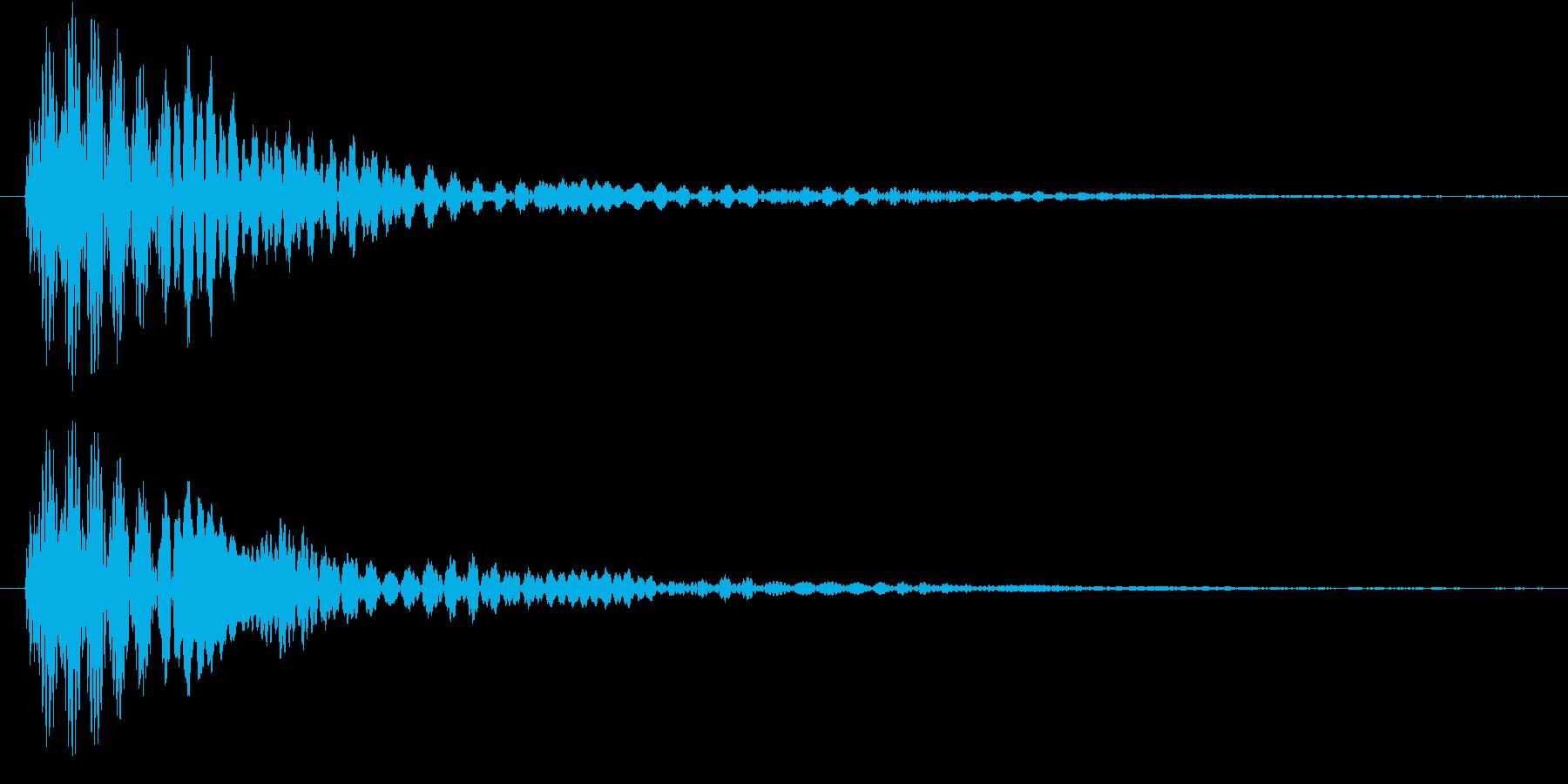マリンバによるキャンセル音の再生済みの波形