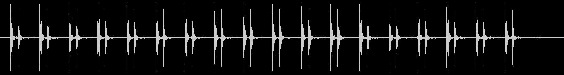 心臓の鼓動(ドクンドクン)早いの未再生の波形