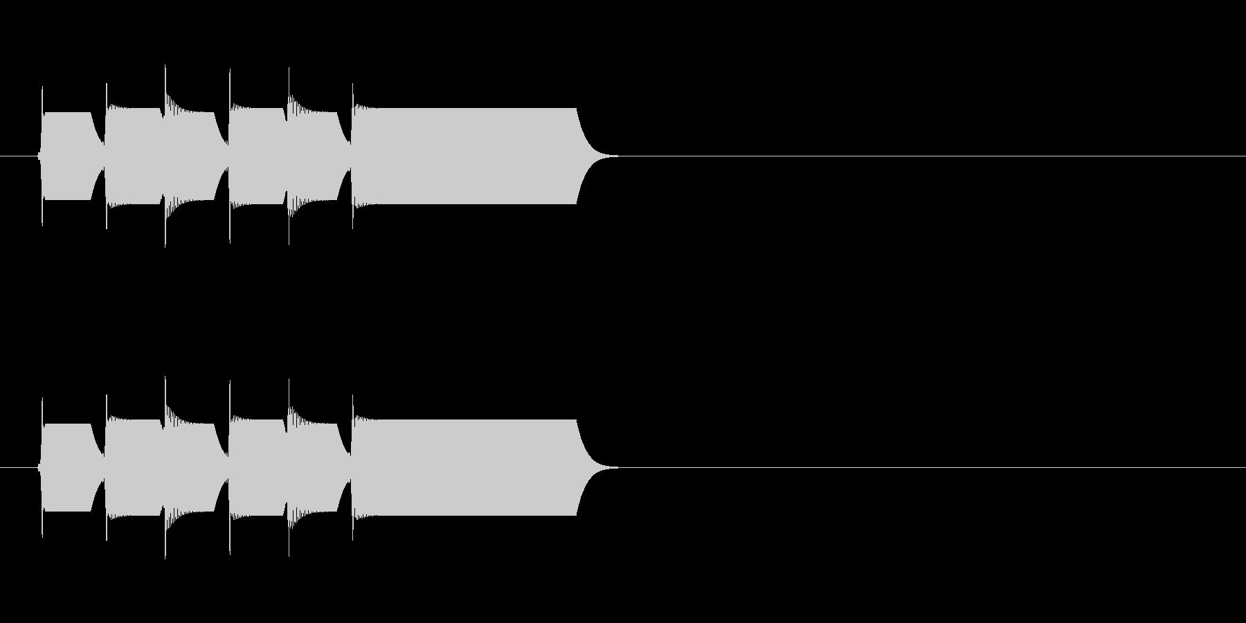 ピコーンx3/クイズゲームの正解音などにの未再生の波形