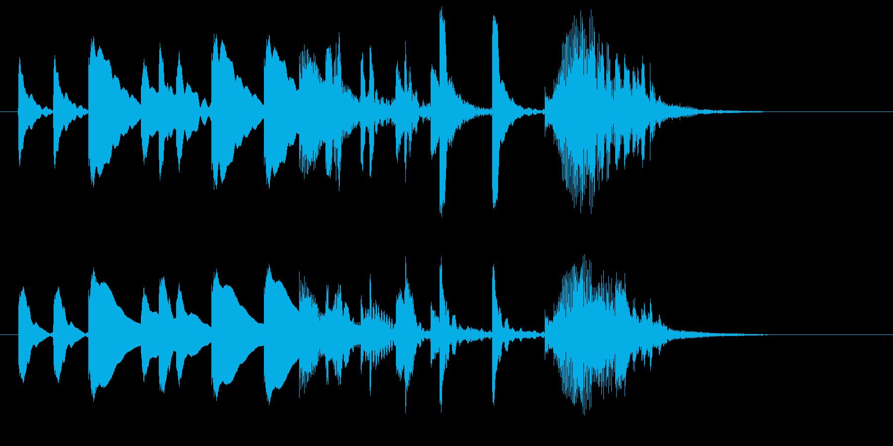 マリンバによるかわいいサウンドロゴの再生済みの波形