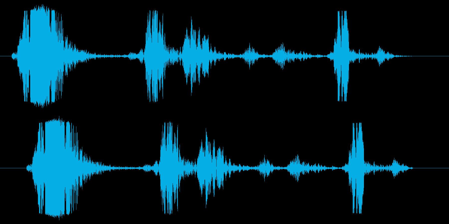 鞭やヌンチャク等の風切り音に最適!02Hの再生済みの波形