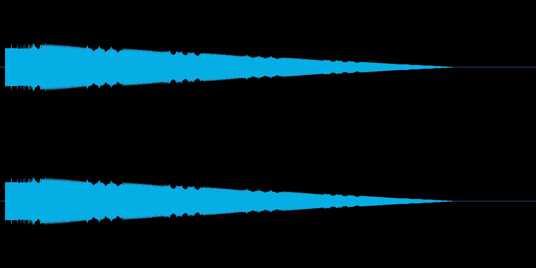 レトロゲーム風ヒット音4の再生済みの波形