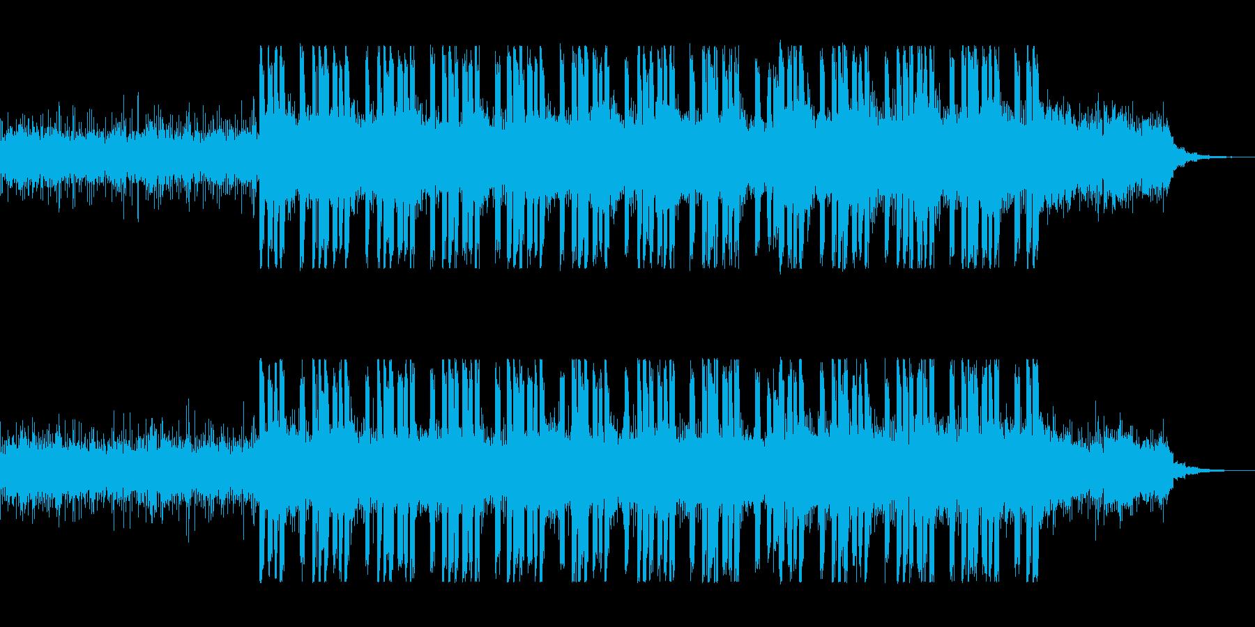 遅めBPMのクールなエレクトロの再生済みの波形