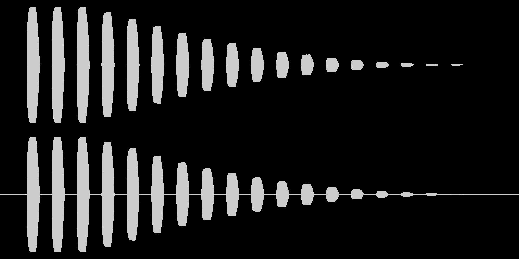 横断歩道 誘導音03-5の未再生の波形