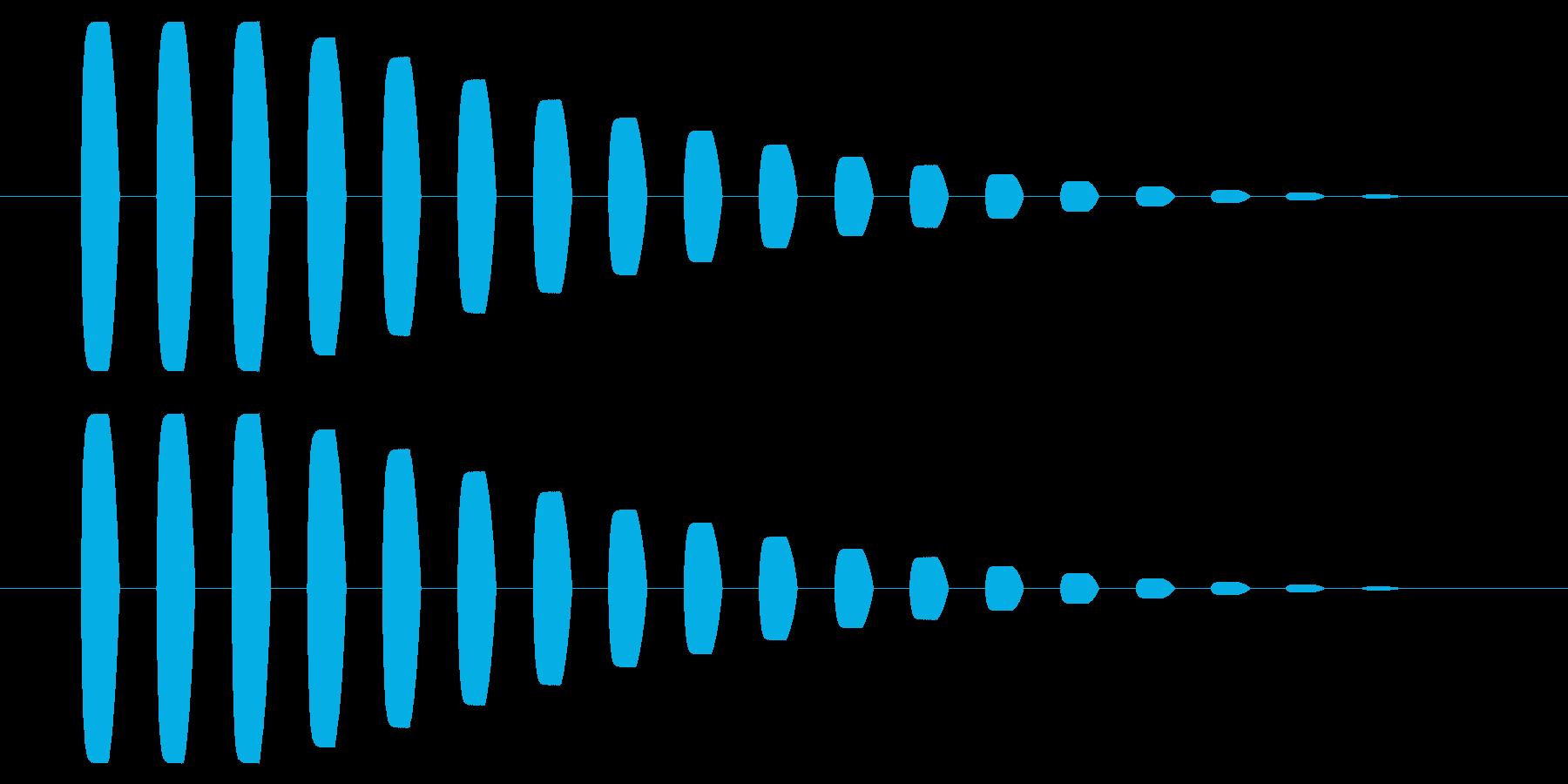 横断歩道 誘導音03-5の再生済みの波形