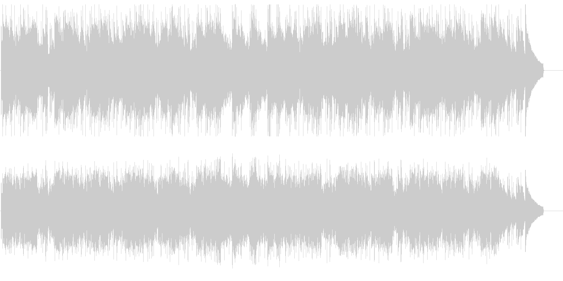 緩やかで優しいシンセとアコギのメロディーの未再生の波形