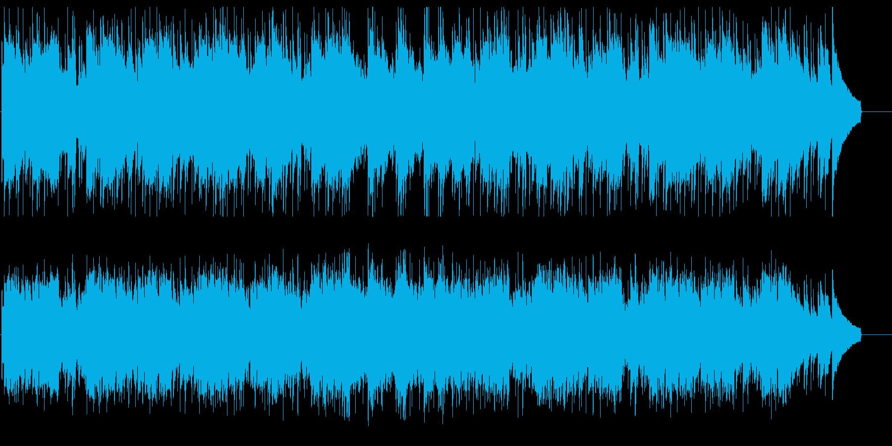 緩やかで優しいシンセとアコギのメロディーの再生済みの波形