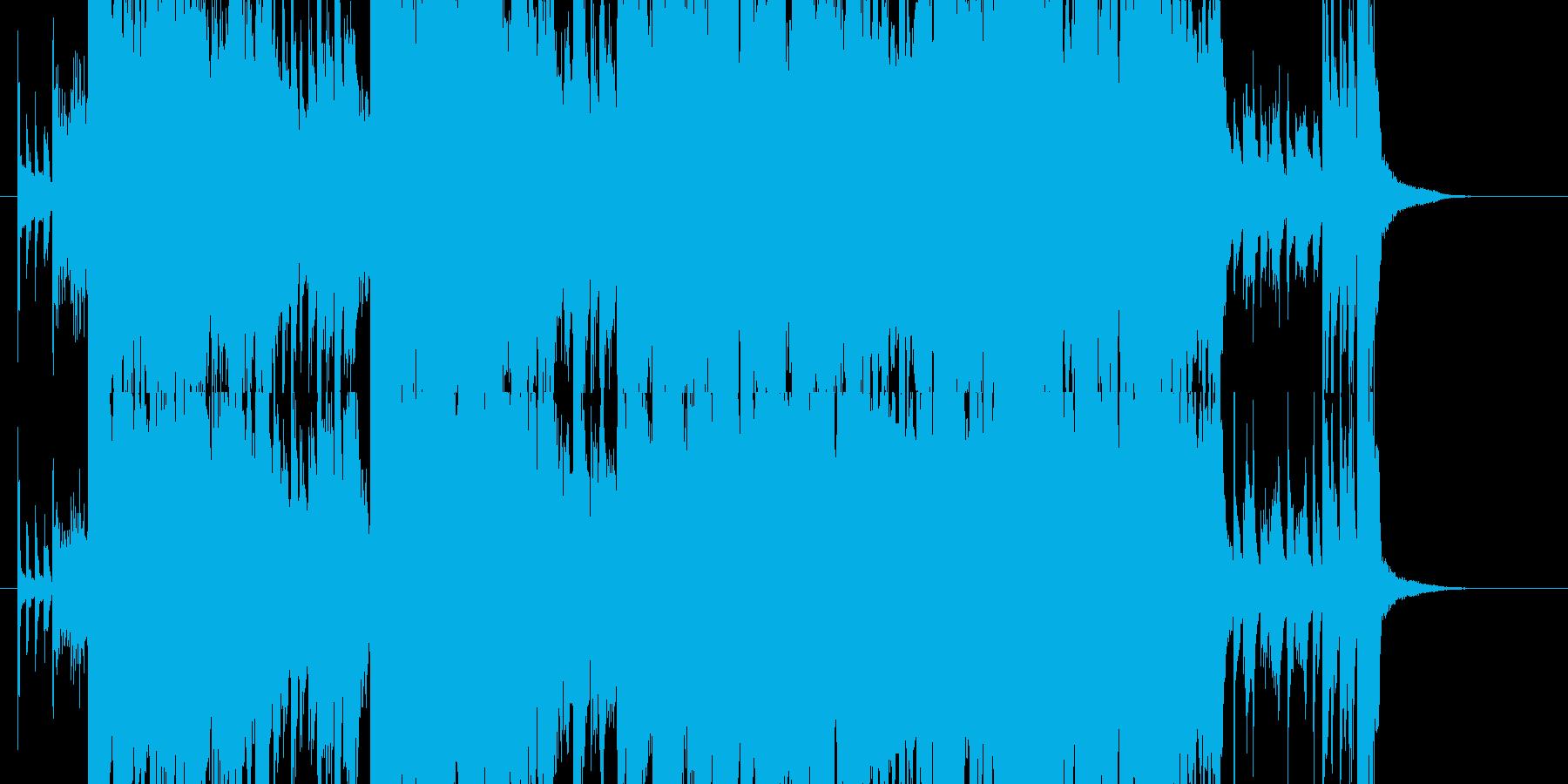 わくわくする壮大なジングルの再生済みの波形