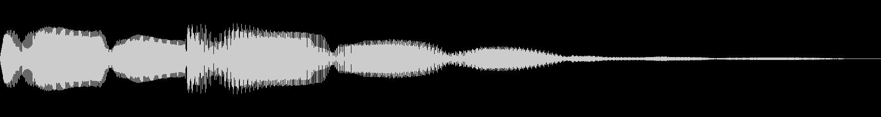 クイズで正解した時のイメージです。決定…の未再生の波形