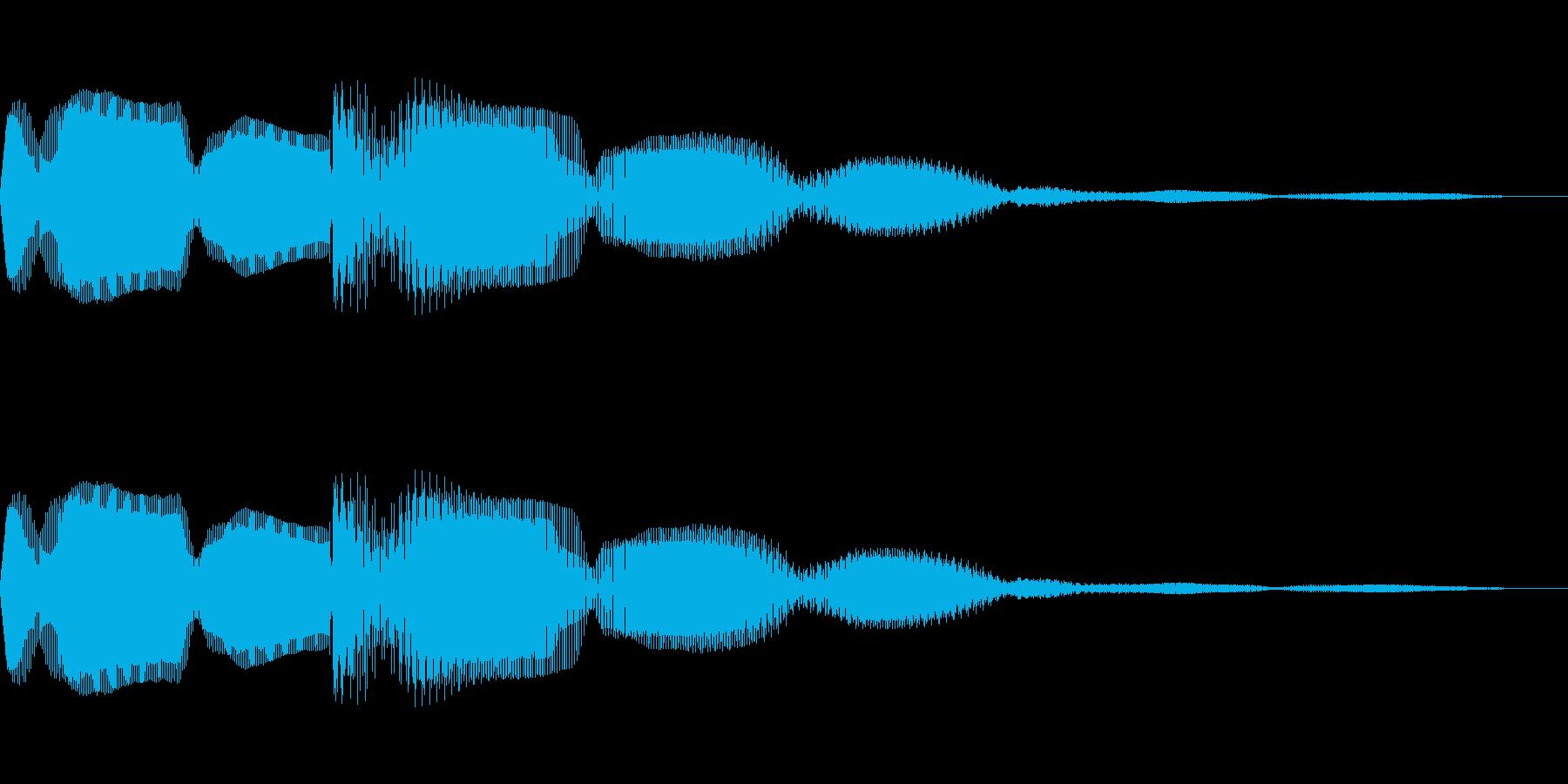 クイズで正解した時のイメージです。決定…の再生済みの波形