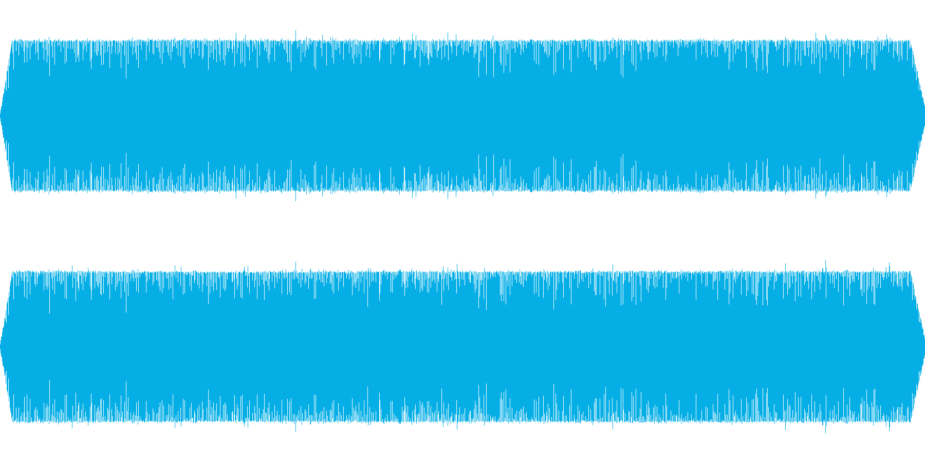 旅客機飛行中(機外から撮影したシーンに)の再生済みの波形