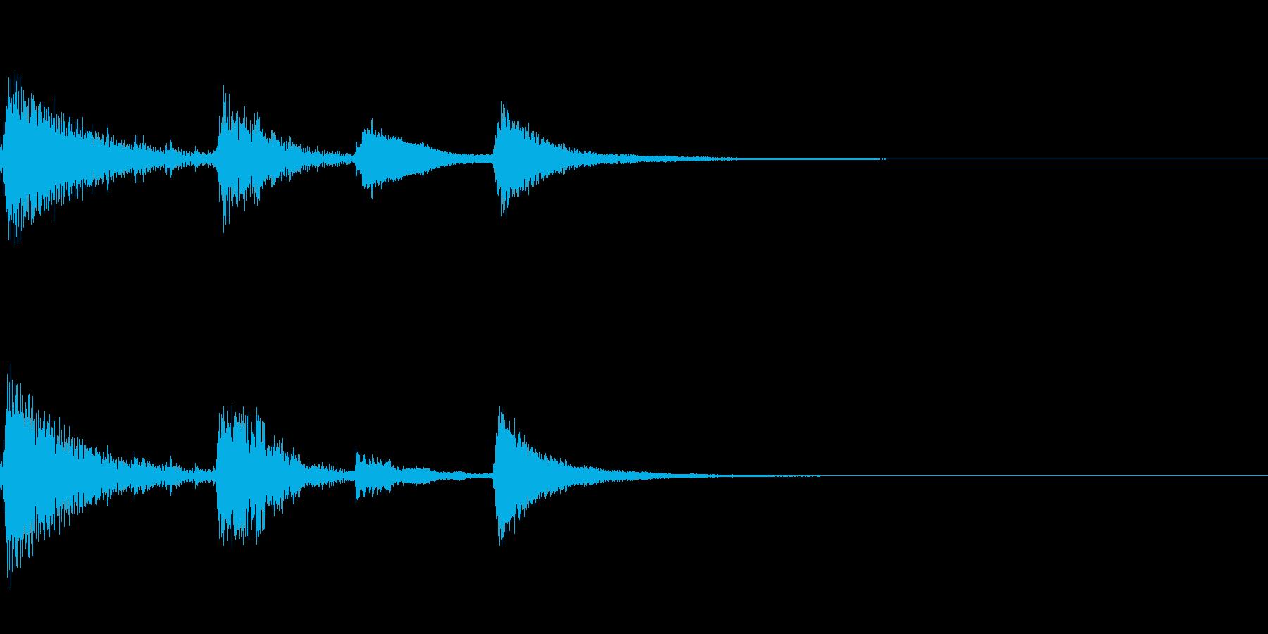 【ロゴ、ジングル】ピアノ05の再生済みの波形