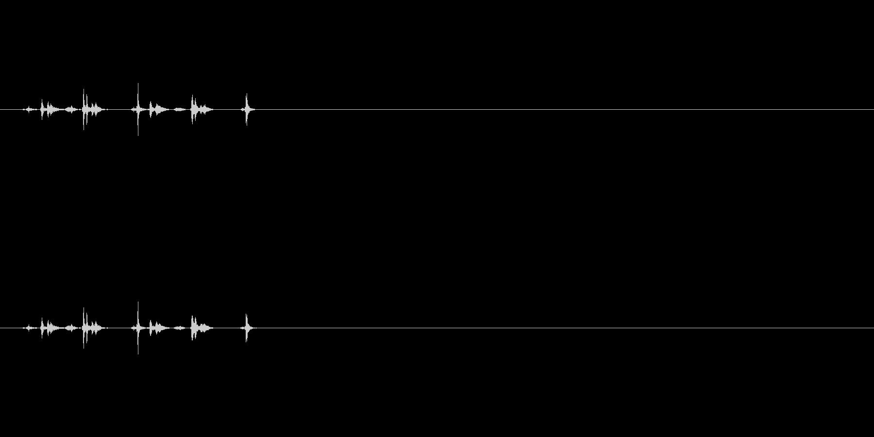 シャッター音03(2連写)Var2-1の未再生の波形
